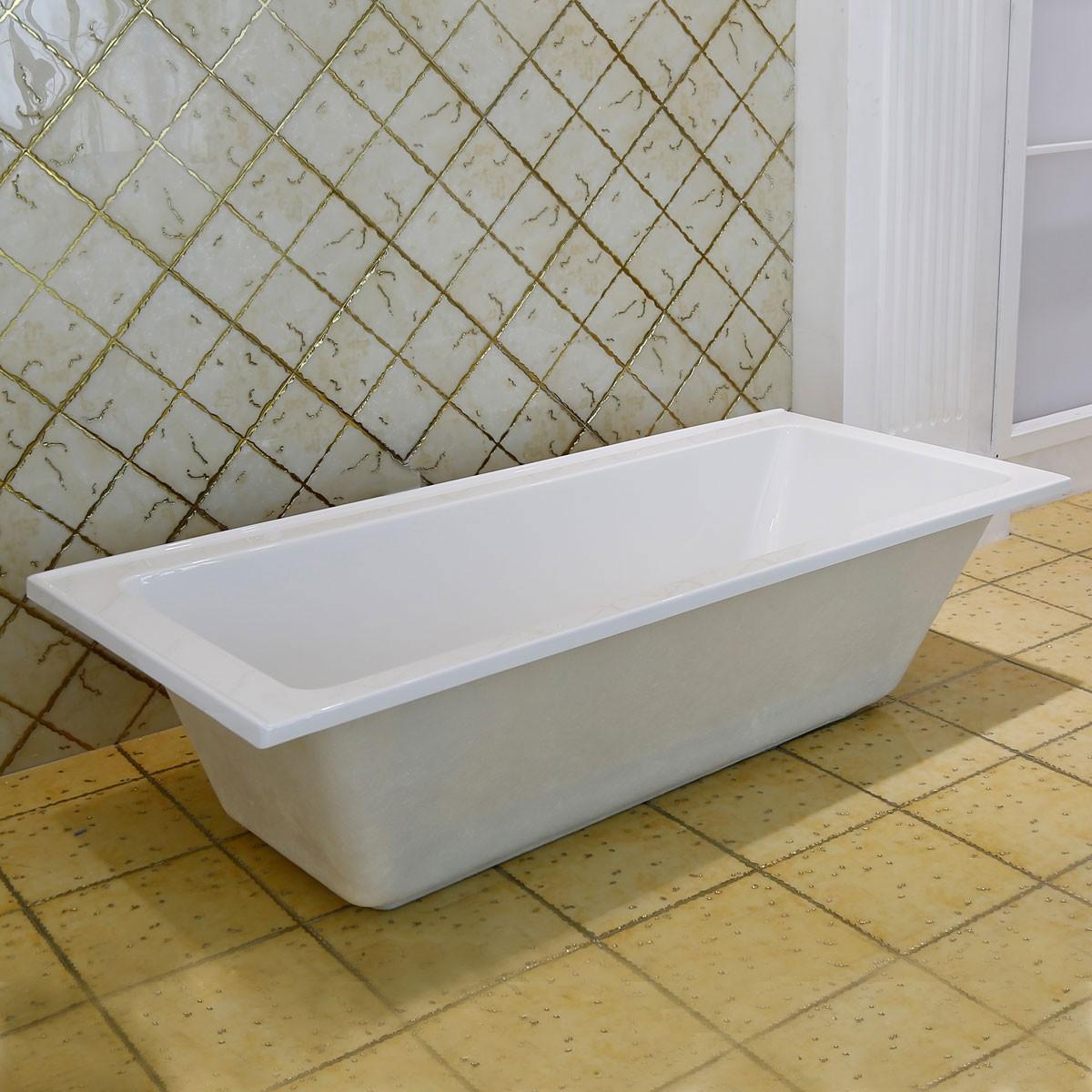65 po baignoire encastrable blanche en acrylique de salle de bain dk 2002 1650l et Baignoire acrylique salle bains