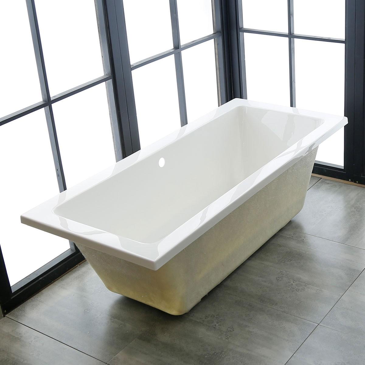 60 po baignoire encastrable blanche en acrylique de salle de bain dk 1565 et decoraport canada Baignoire acrylique salle bains