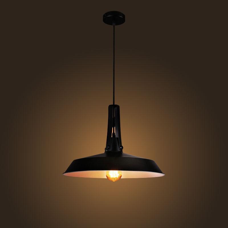 Suspension r tro vintage en fer noir mat dk 2052 d1a for Suspension fer noir