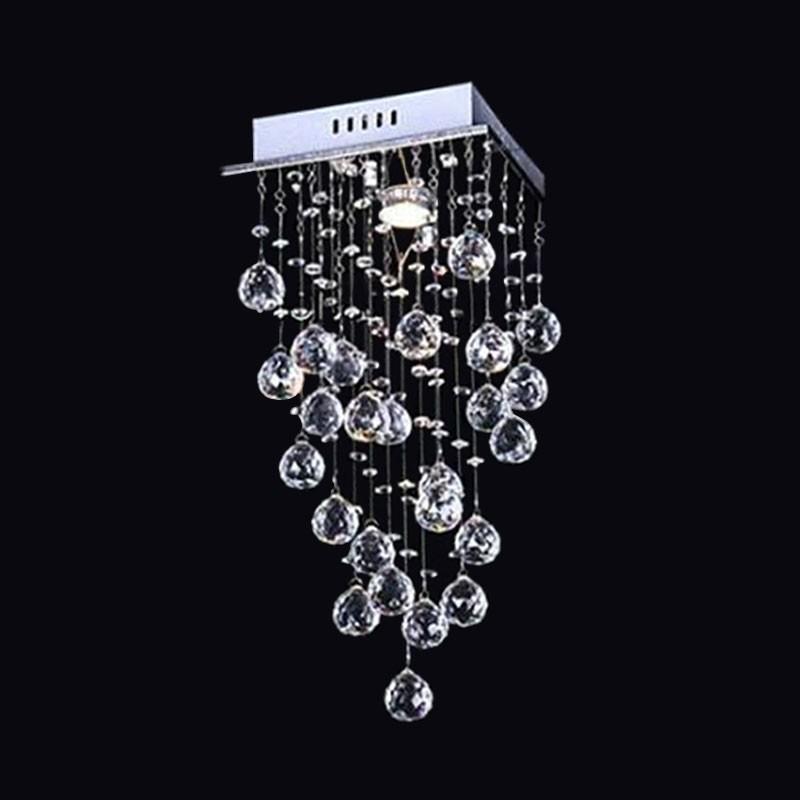 lustre plafonnier moderne en cristal et acier inoxydable dk ld05007 1 decoraport canada. Black Bedroom Furniture Sets. Home Design Ideas