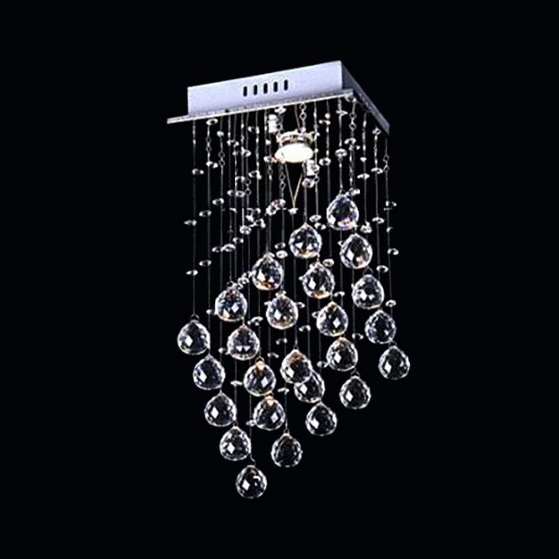 Lustre Plafonnier Moderne en Cristal et Acier Inoxydable (DK-LD05008-1)