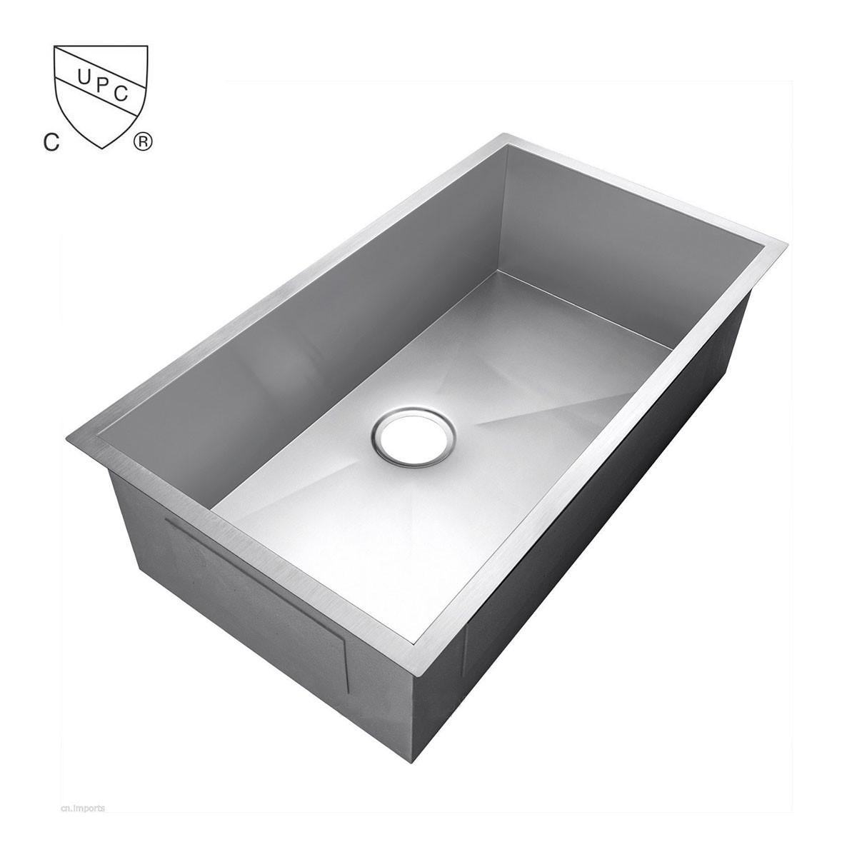 Evier de cuisine l 39 angle droit en acier inoxydable for Evier cuisine solde