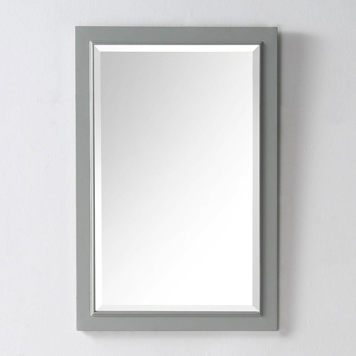 20 x 30 po Miroir avec Cadre Gris Clair (DK-5000-CGM)
