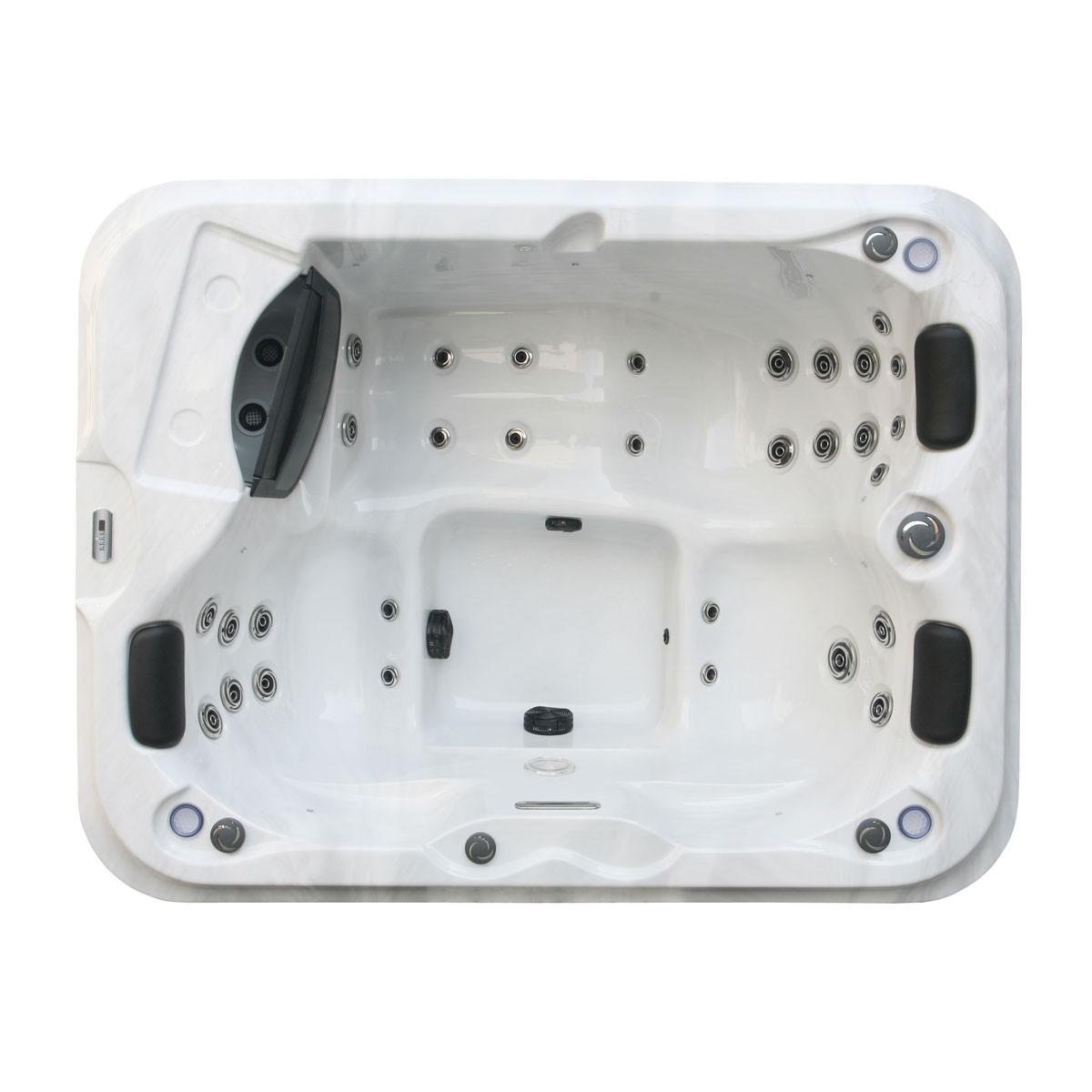 Spa ext rieur bain remous mini piscine pour 3 personnes for Bain a remous exterieur