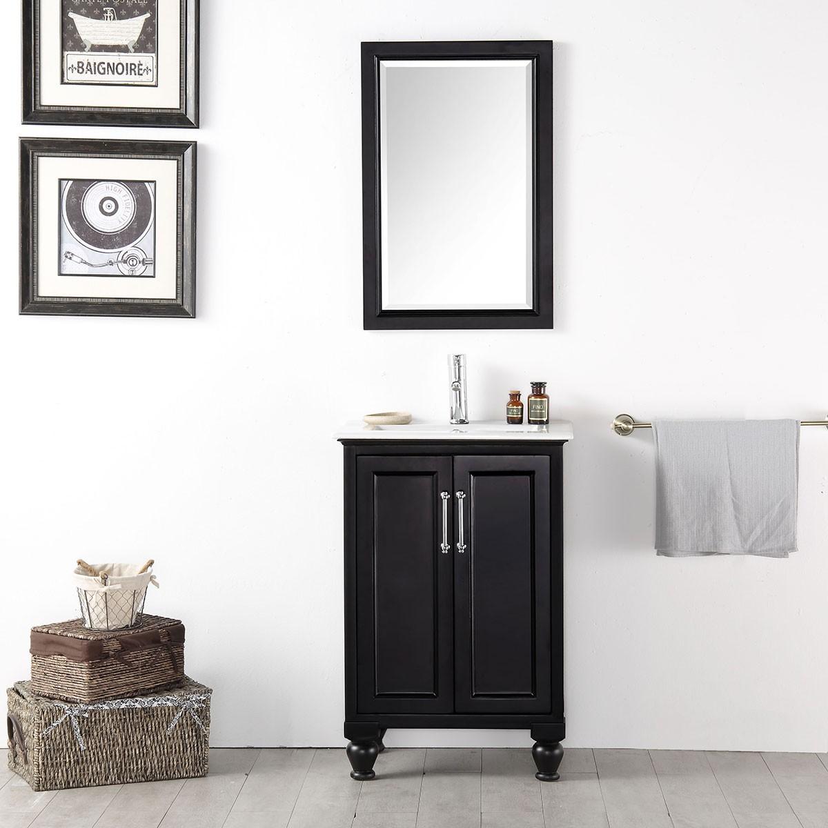 24 po meuble salle de bain vanit sur pieds lavabo simple sans miroir dk 6524 e decoraport. Black Bedroom Furniture Sets. Home Design Ideas