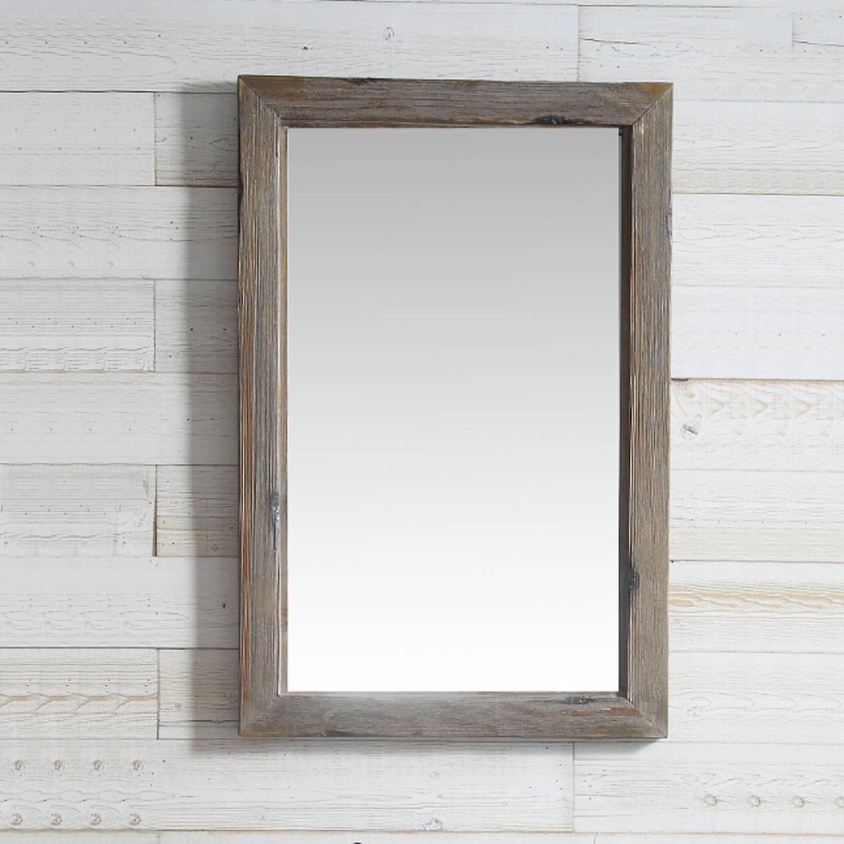 24 x 36 po Miroir pour Vanité avec Cadre en Bois de Sapin (DK-WH9324-LB)