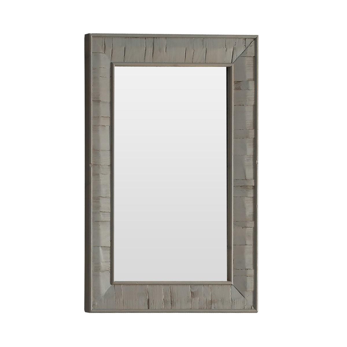 26 x 36 po Miroir pour Vanité avec Cadre en Bois de Sapin (DK-WK9226-GY)
