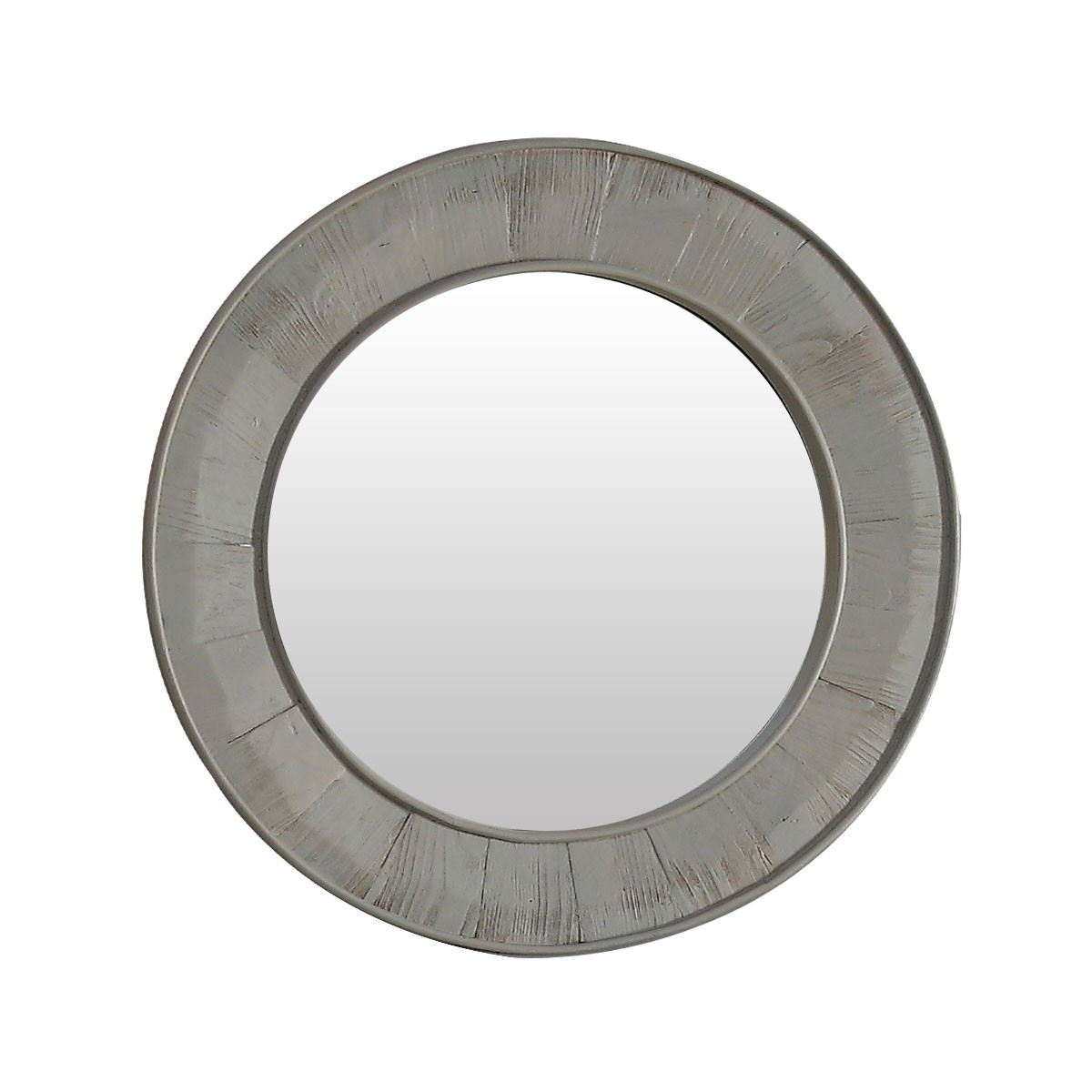 28 x 28 po miroir rond pour vanit avec cadre en bois de for Miroir rond cadre bois