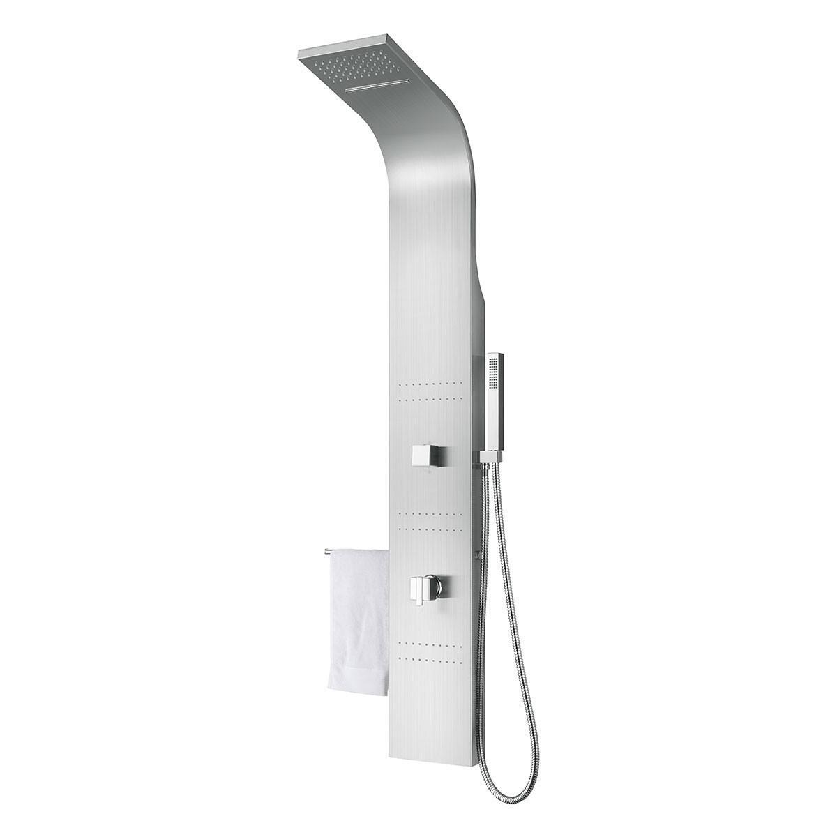 Panneau de douche thermostatique en acier inoxydable brossé (JX-98101)