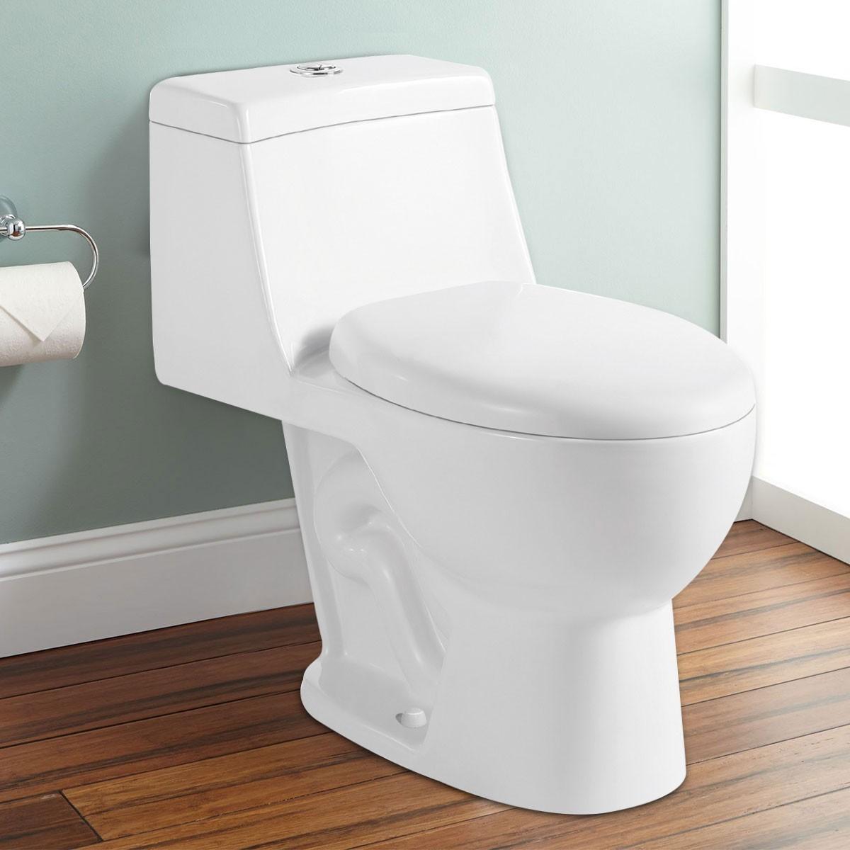 Toilette Monopièce à Double Chasse et à Action Siphonique (DK-ZBQ-12210)