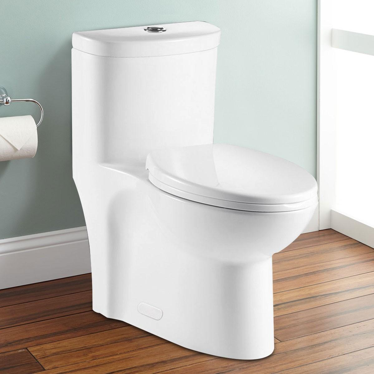 Toilette Monopièce à Double Chasse et à Action Siphonique (DK-ZBQ-12247)