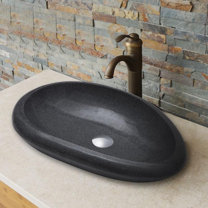 Lavabo Noir En Granite De Dessus Du Comptoir Cl S008 Decoraport