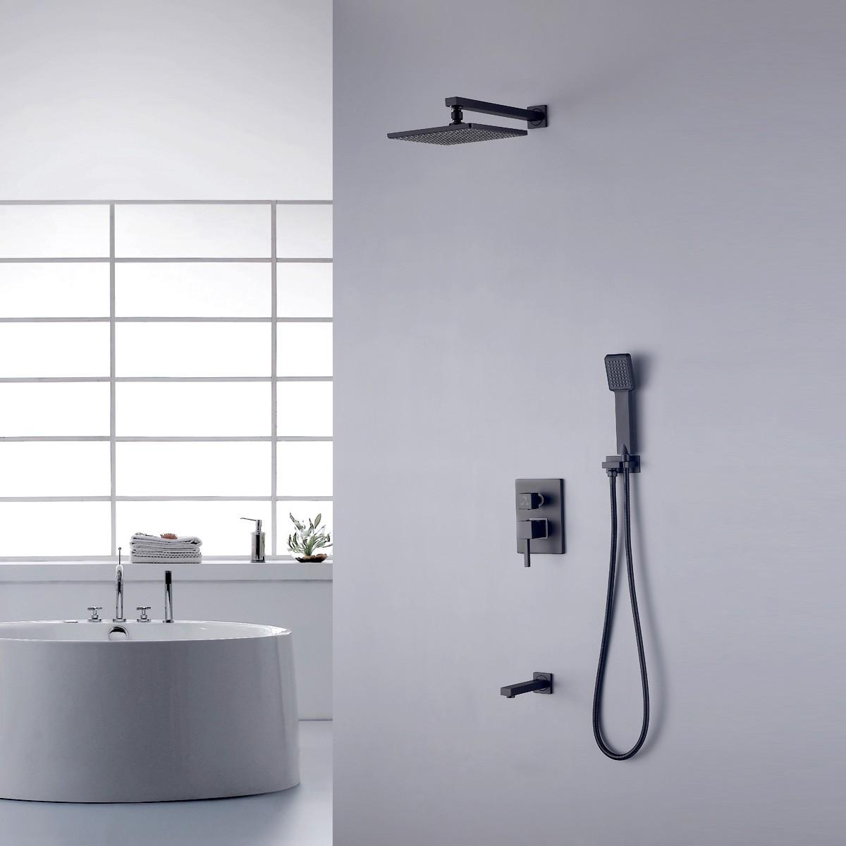 robinet de douche laiton en noir mat ydl 7523bk decoraport canada. Black Bedroom Furniture Sets. Home Design Ideas