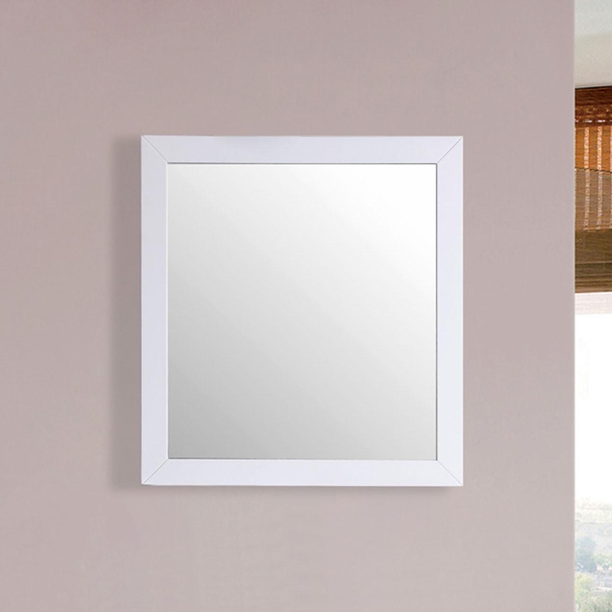 30 x 31 po Miroir avec cadre blanc (DK-T9312-30WM)