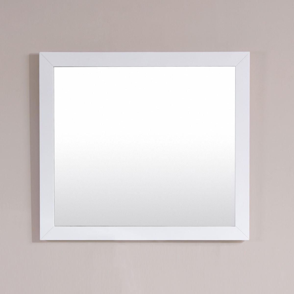 36 x 31 po Miroir avec cadre blanc (DK-T9312-36WM)