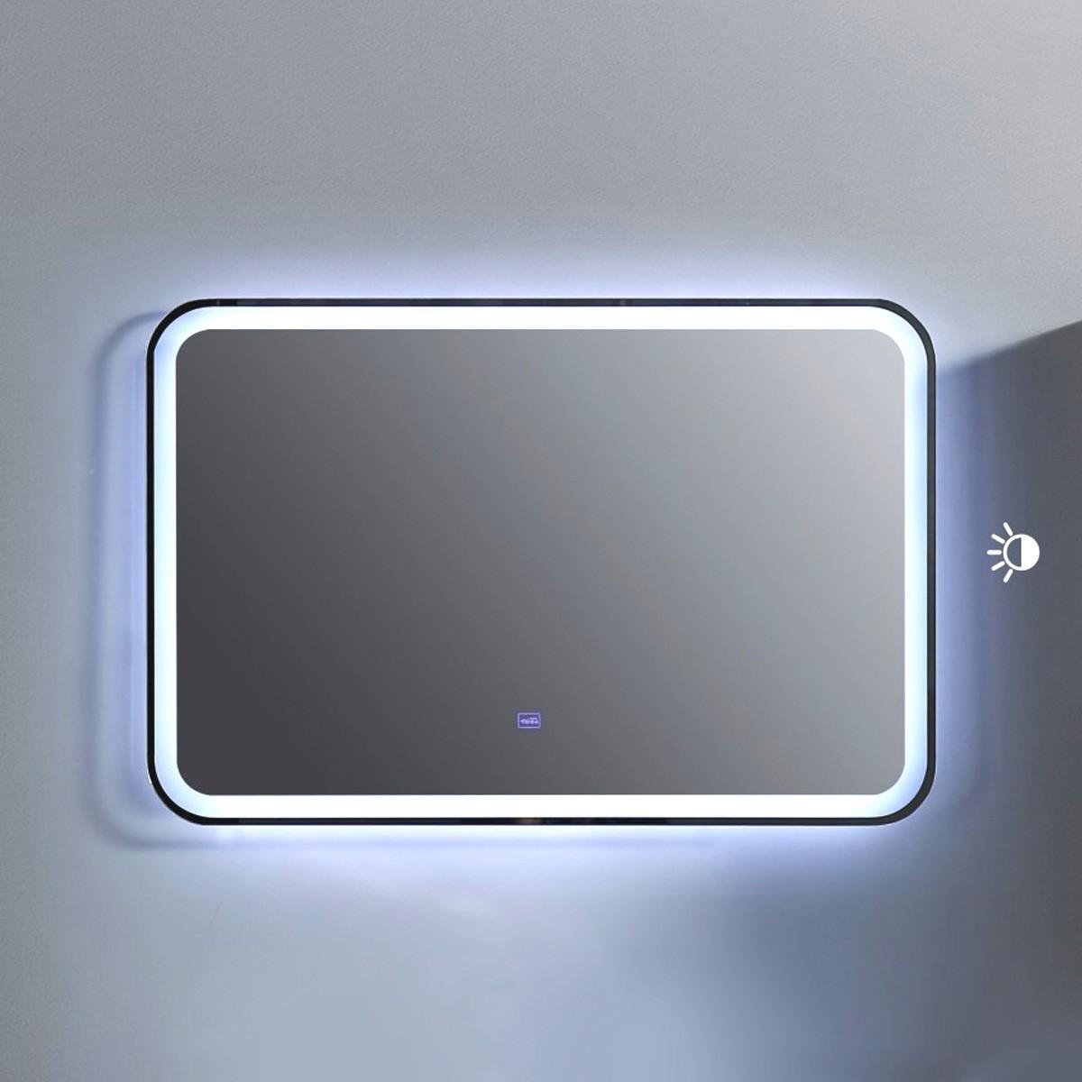 36 x 24 po Miroir à LED avec bouton tactile (BNW9002LT-M)