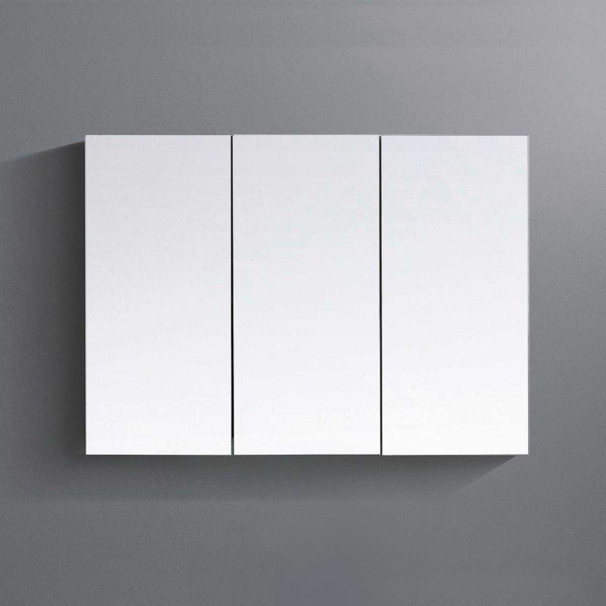 36 x 26 po Armoire-miroir pour vanité à trois portes (ZRW1002WH-M)