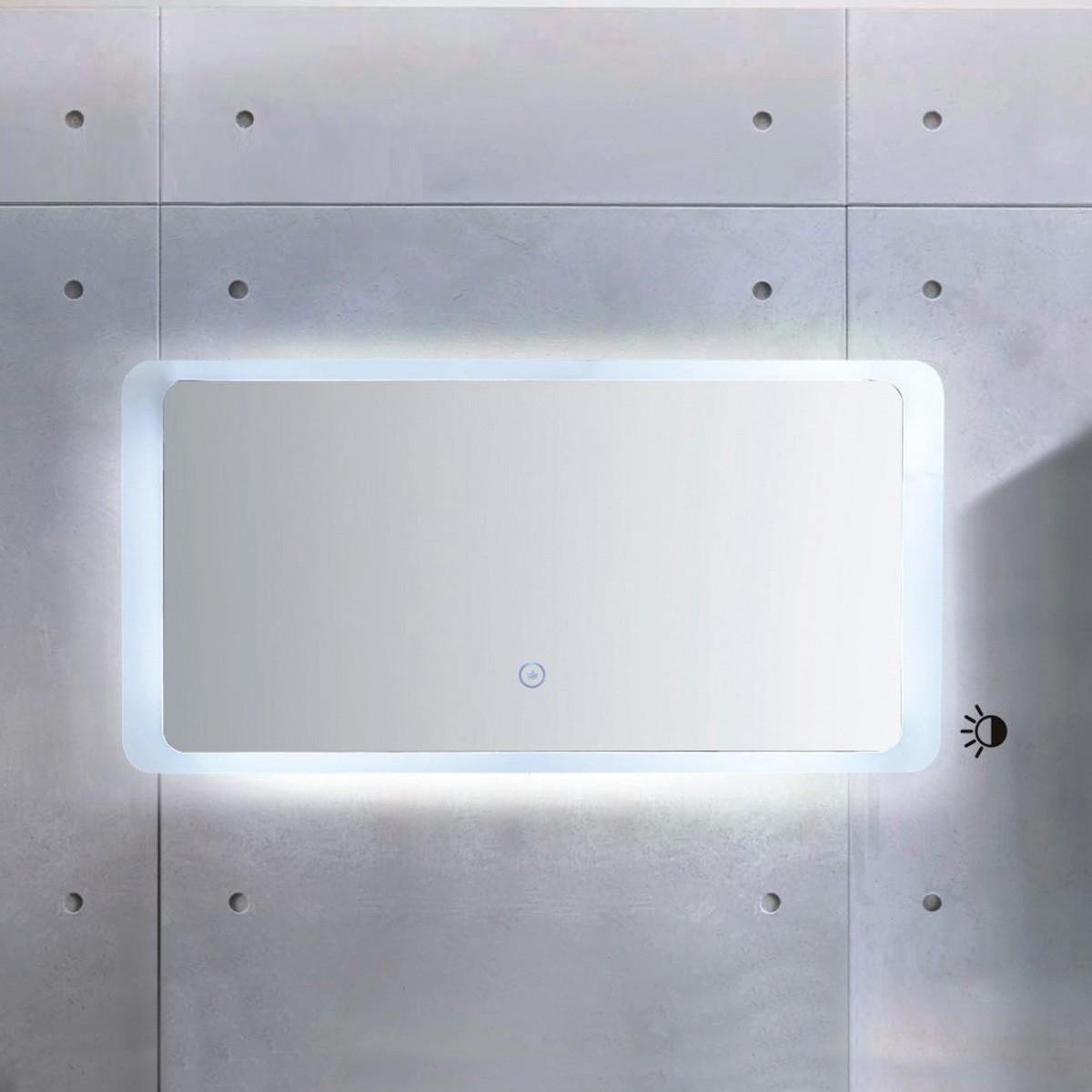 48 x 24 po Miroir à LED avec bouton tactile (ML1380-M)