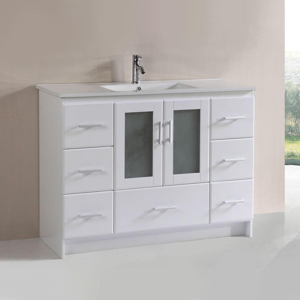 48 po Vanité en contreplaqué avec lavabo (DK-T9312-48WV)