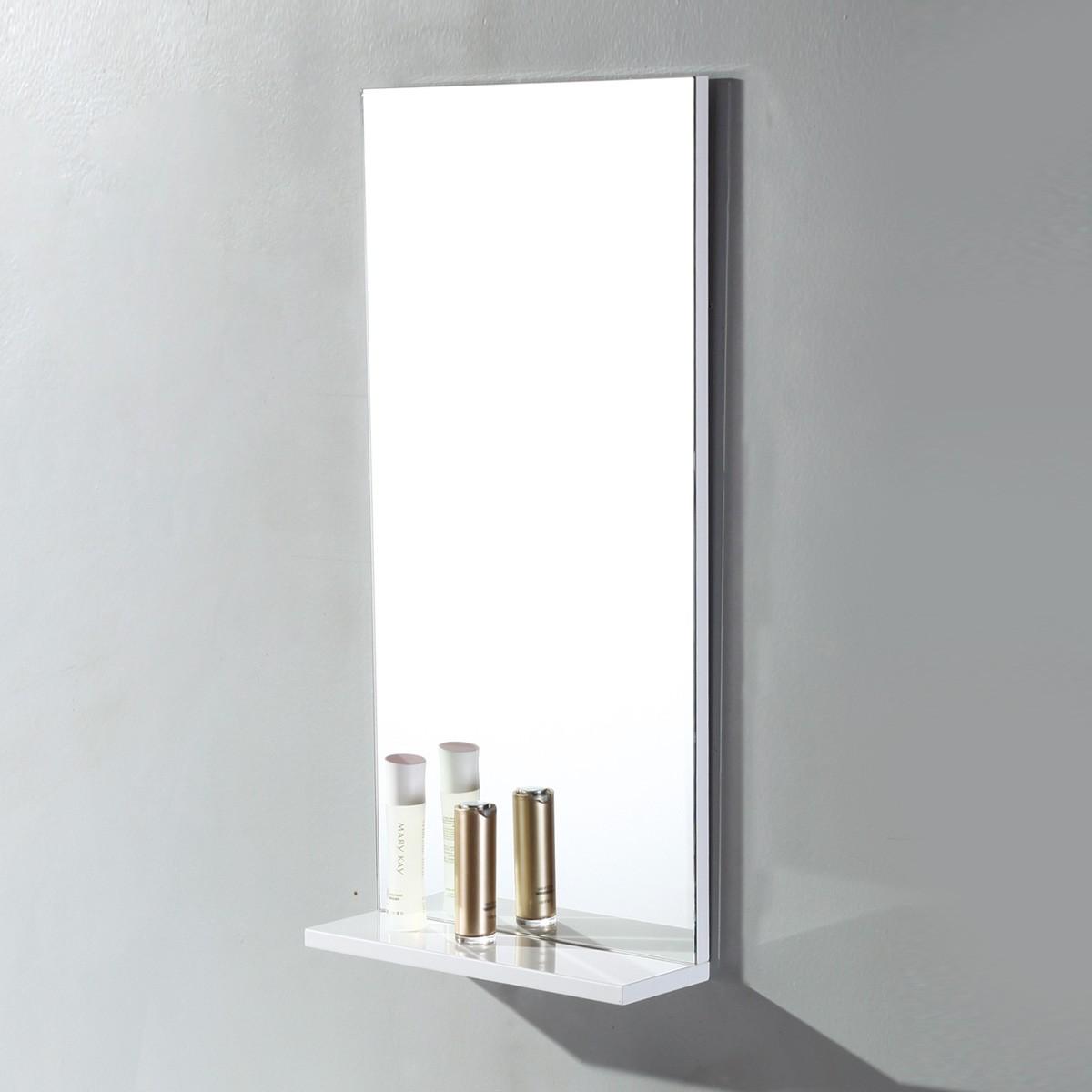 16 x 32 po Miroir pour vanité salle de bain avec étagère (MS400A-M)
