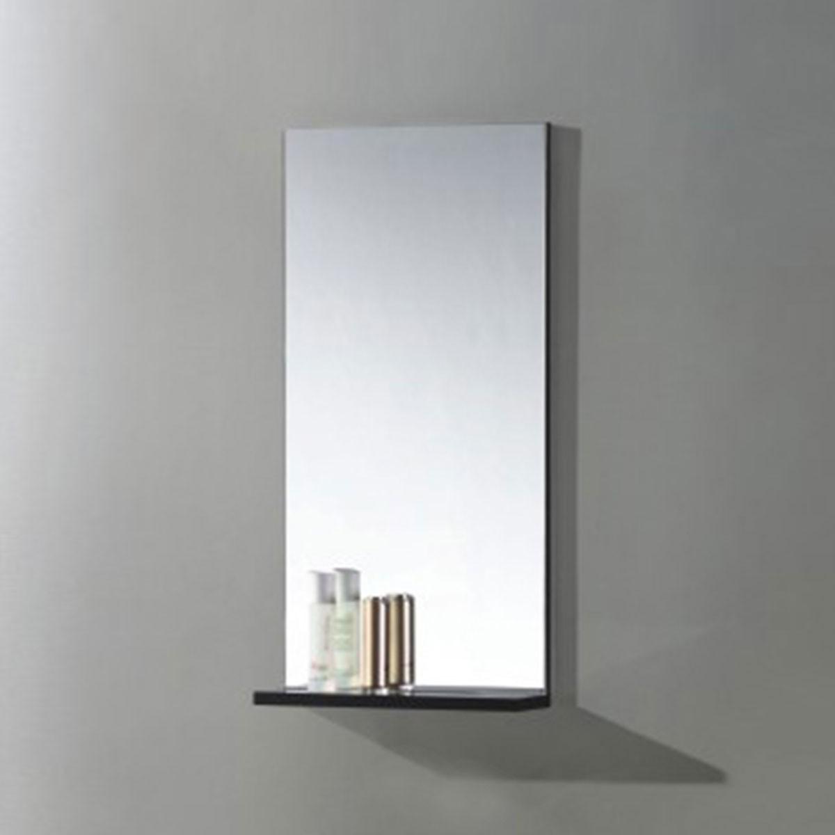 16 x 32 po Miroir pour vanité salle de bain avec étagère (MS400B-M)