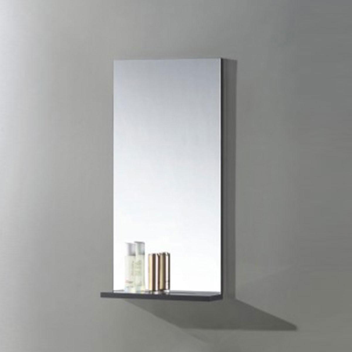 16 x 32 po Miroir pour vanité salle de bain avec étagère (MS400C-M)