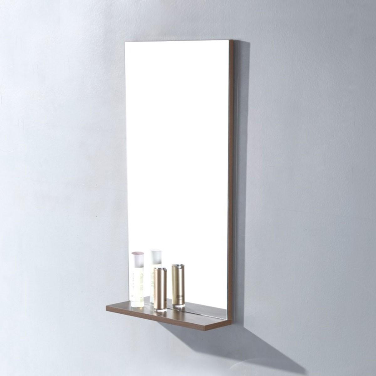 16 x 32 po Miroir pour vanité salle de bain avec étagère (MS400D-M)