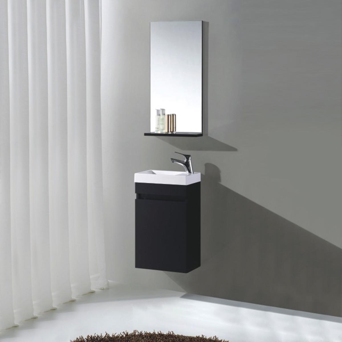 Ensemble de vanité 16 po avec miroir (MS400B-SET)