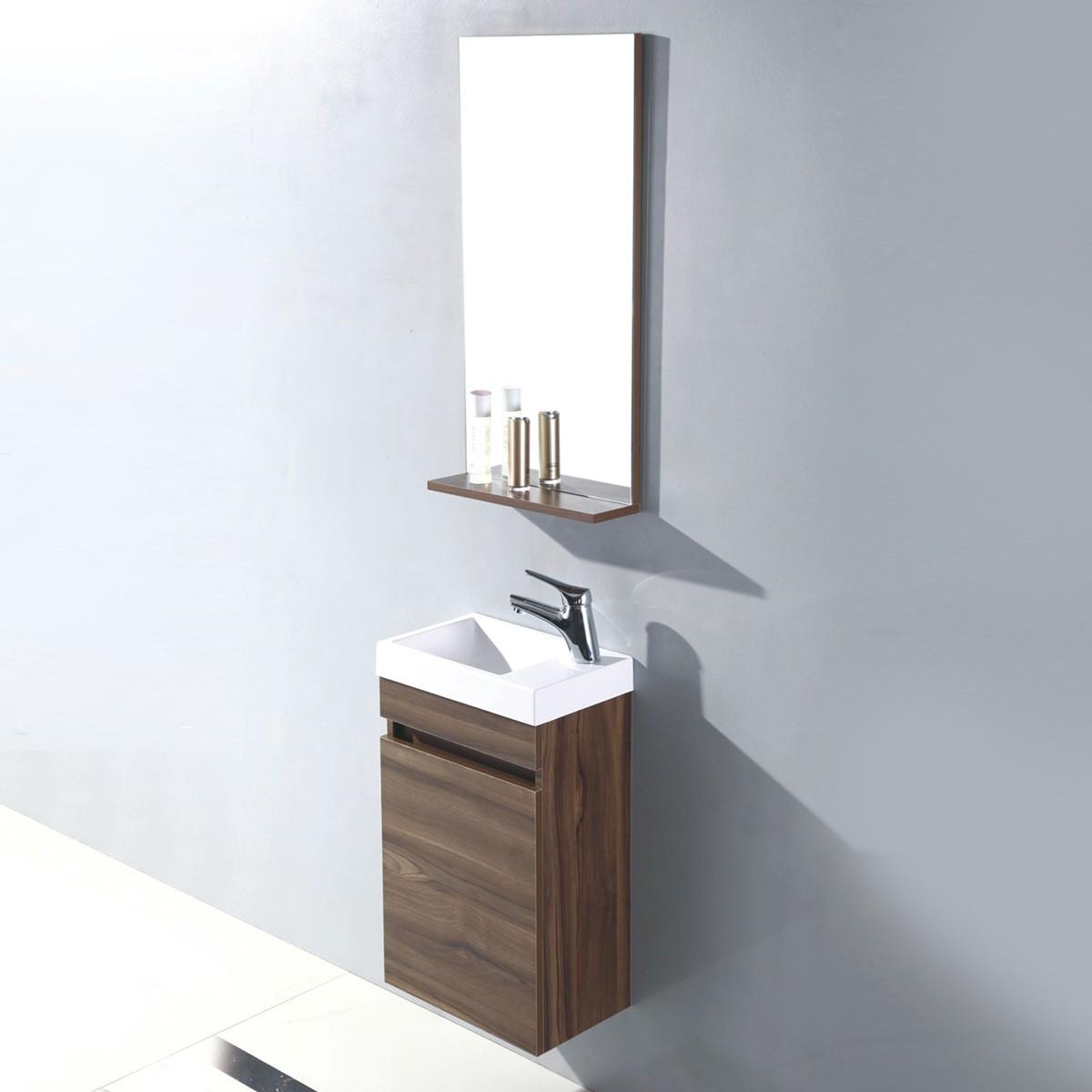 Ensemble de vanité 16 po avec miroir (MS400D-SET)