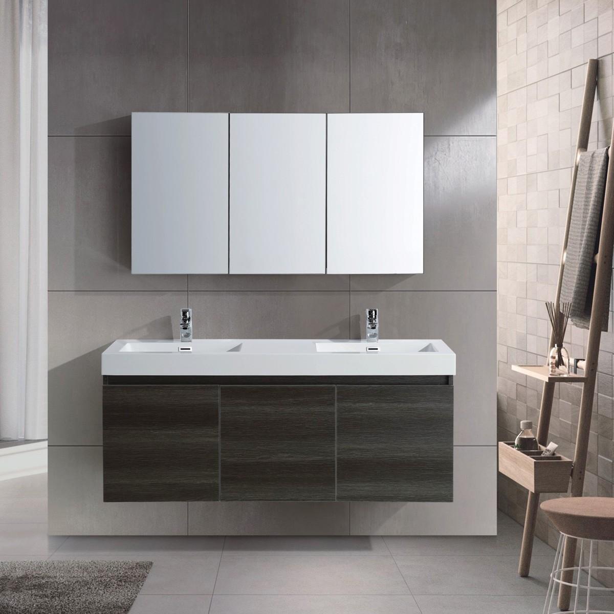 Ensemble meuble salle de bain avec vanité 54\