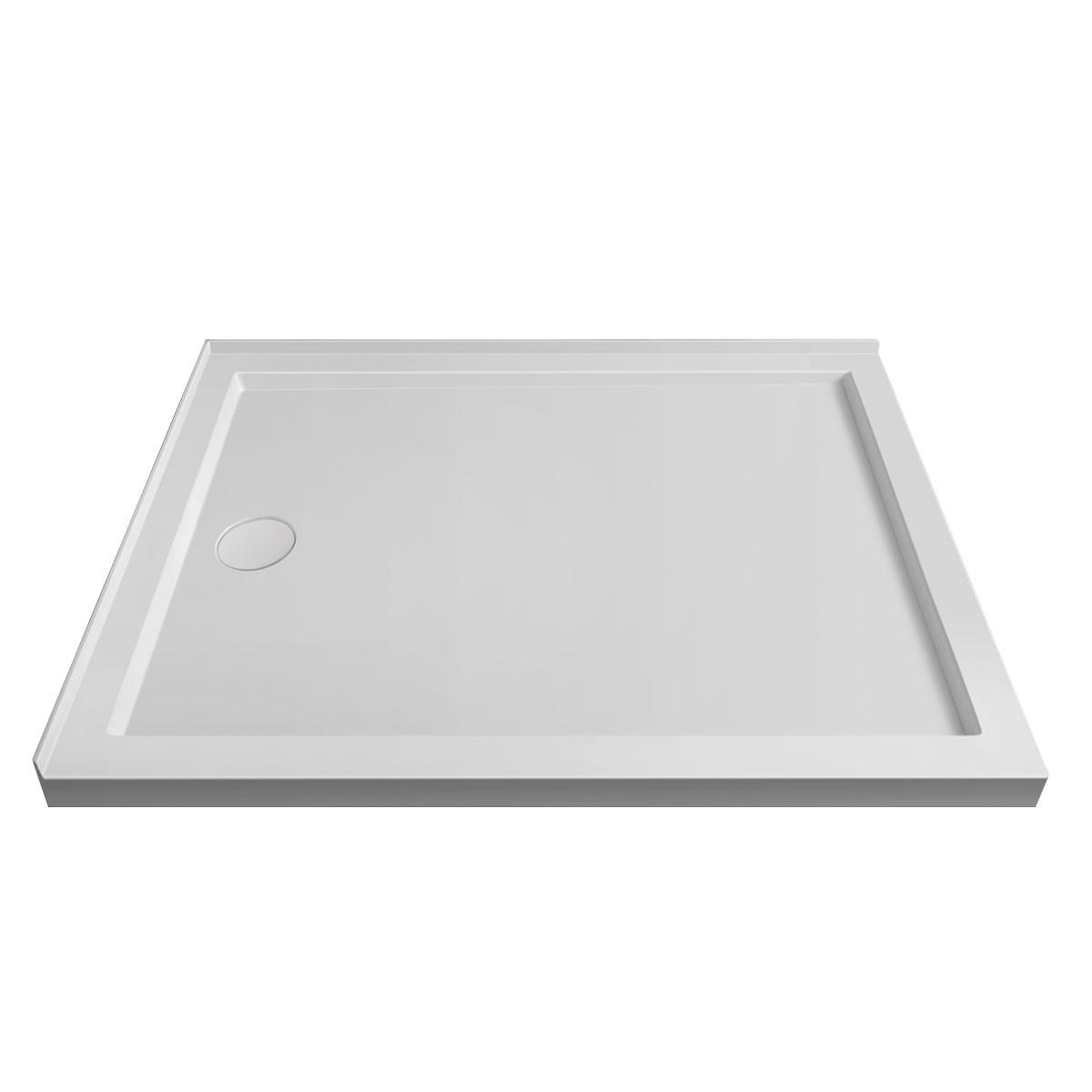 "Base de douche rectangulaire 48"" x 36"" pour installation coin gauche (DK-STA-18002)"