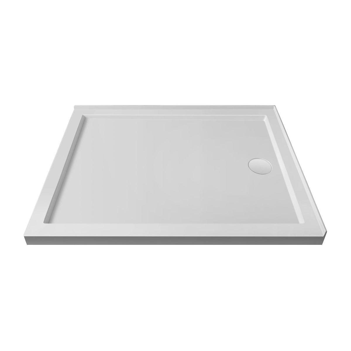 """Base de douche rectangulaire 48"""" x 36"""" pour installation coin droite (DK-STA-18003)"""