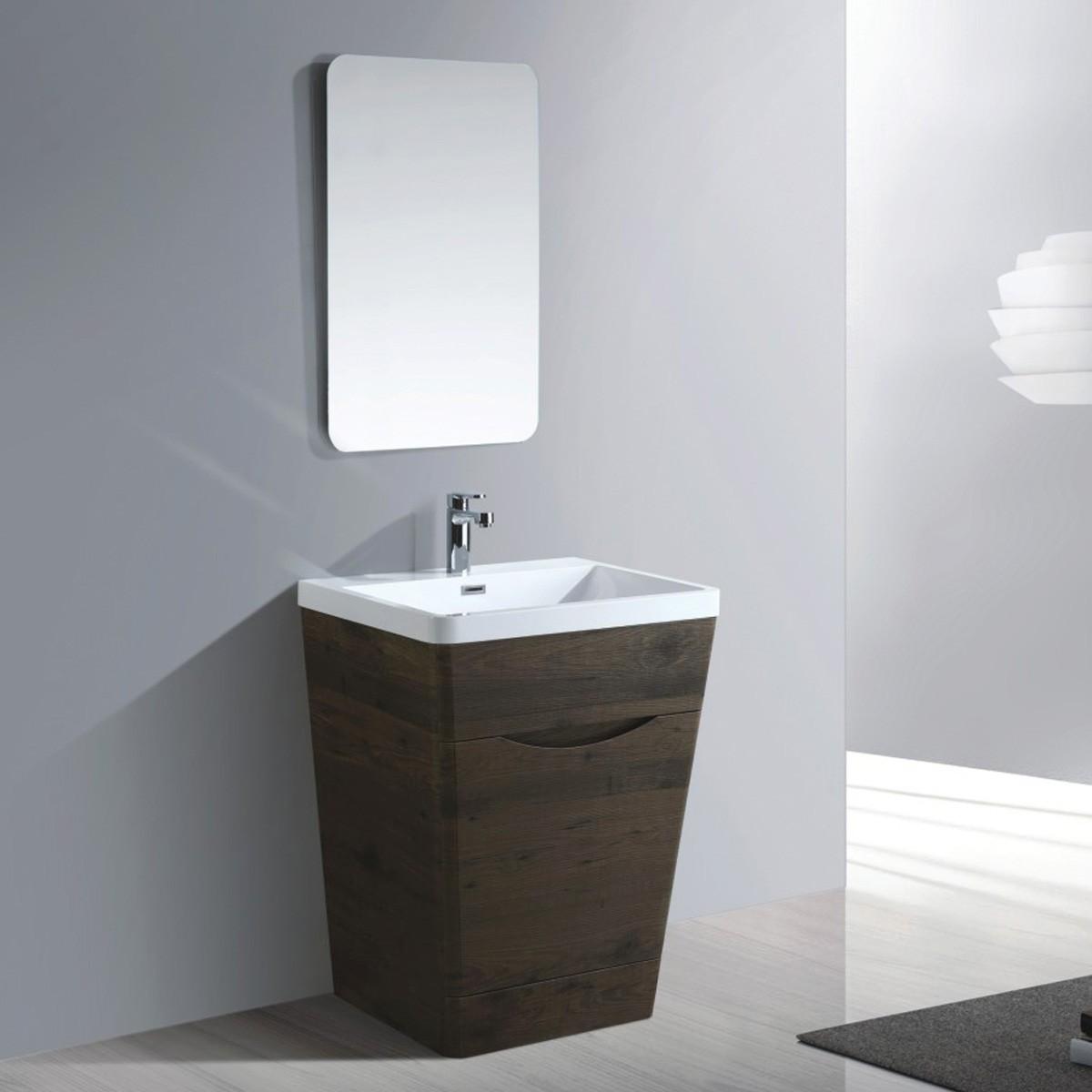 26 po Ensemble vanité avec miroir (MY6501-SET)