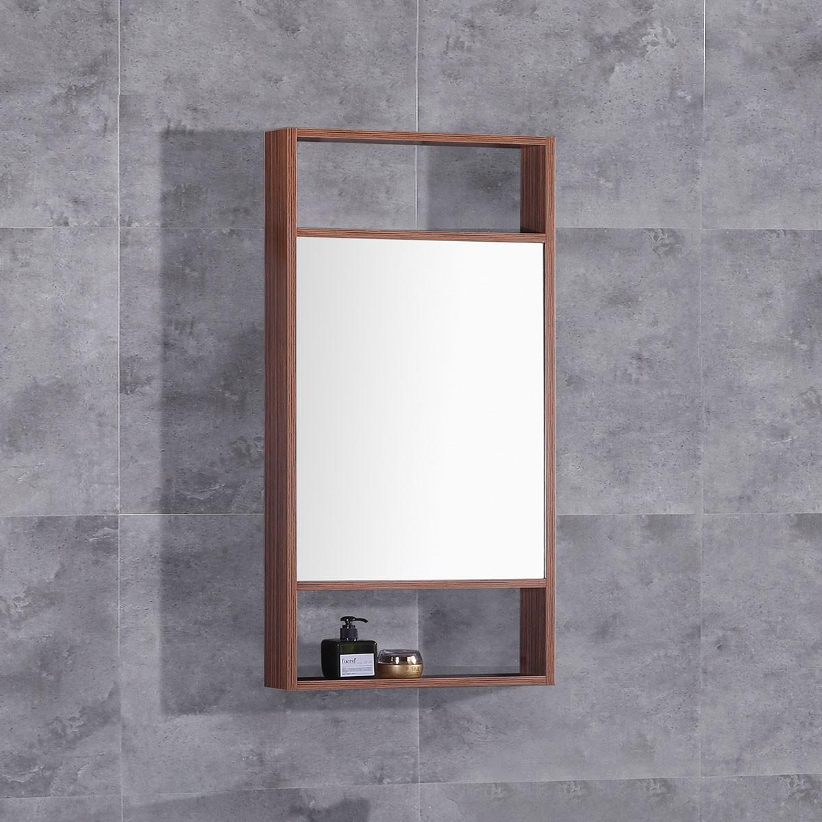 20 x 28 po Miroir pour vanité avec cadre en bois (DK-TH21302B-M)