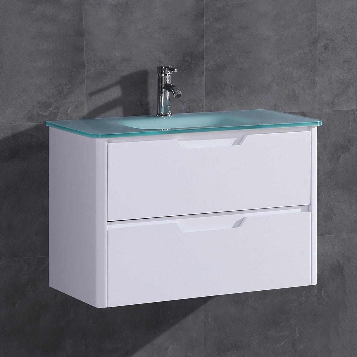 32 po Vanité en MDF avec lavabo (DK-TH22119-V)