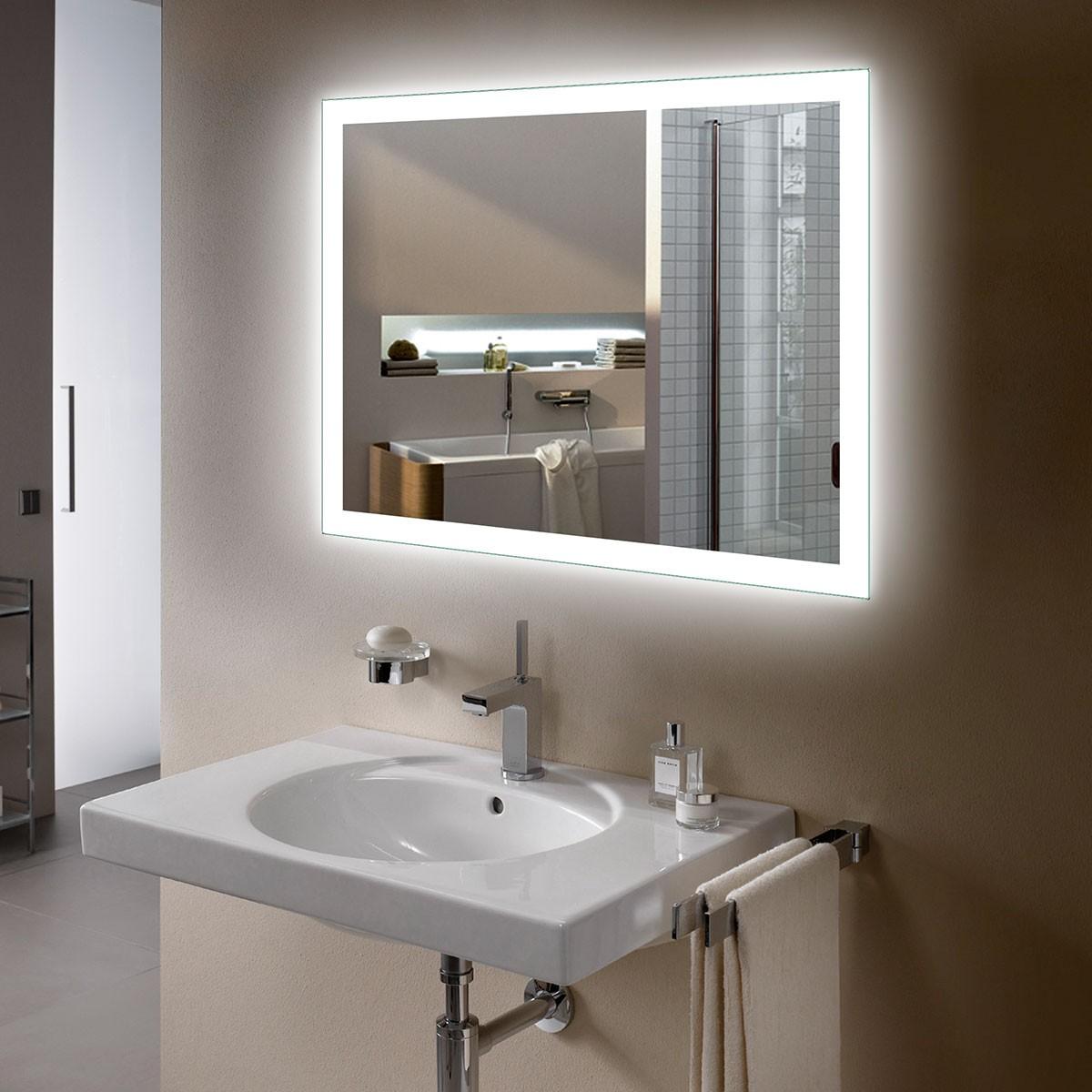 36 x 28 po miroir de salle de bain LED avec capteur infrarouge (DK-OD-N031-IG)