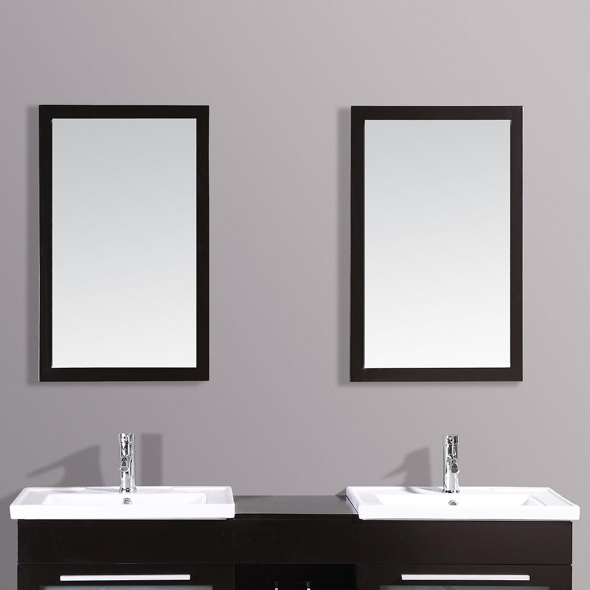 24 x 31 po Miroir avec cadre espresso (DK-T9118-M)