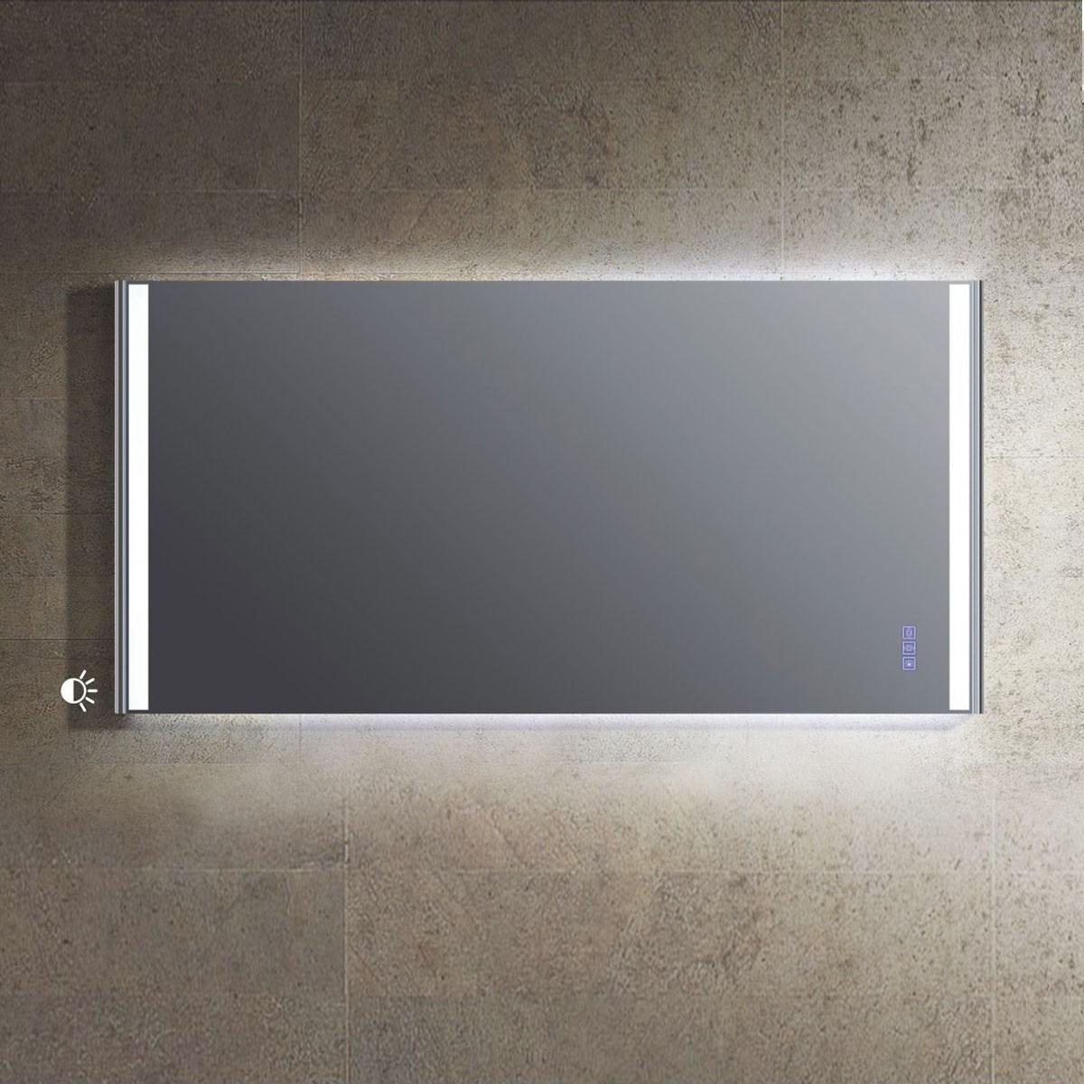 59 x 30 Po Miroir LED avec Bouton Tactile de Meuble Salle de Bain (DW1604D-M)