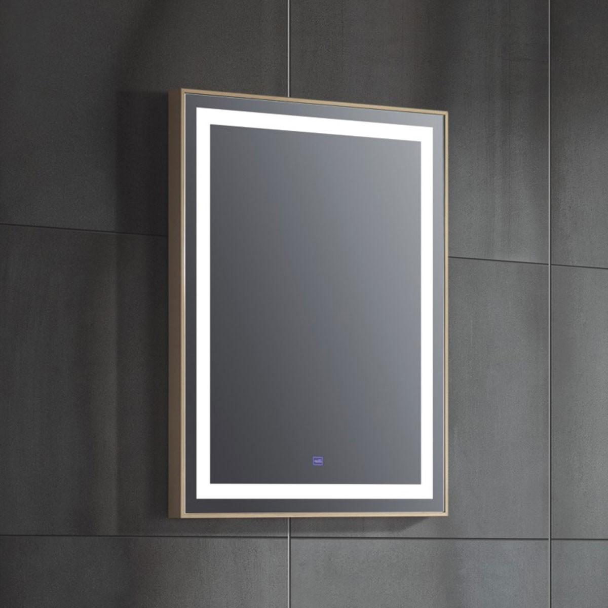 24 x 31 Po Miroir de Salle de Bain LED  Vertical avec Bouton Tactile (FB-G8320-M)