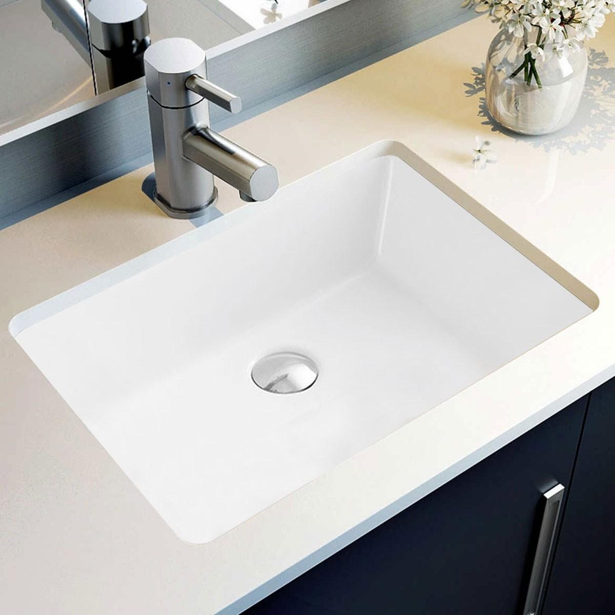 Lavabo Blanc de Dessous du Comptoir (CL-2023)