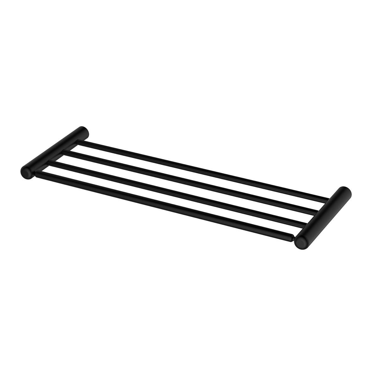Support à Serviettes de Bain avec Porte-Serviette de 23.6 po - Acier Inoxydable Noir Mat (OD80612B)