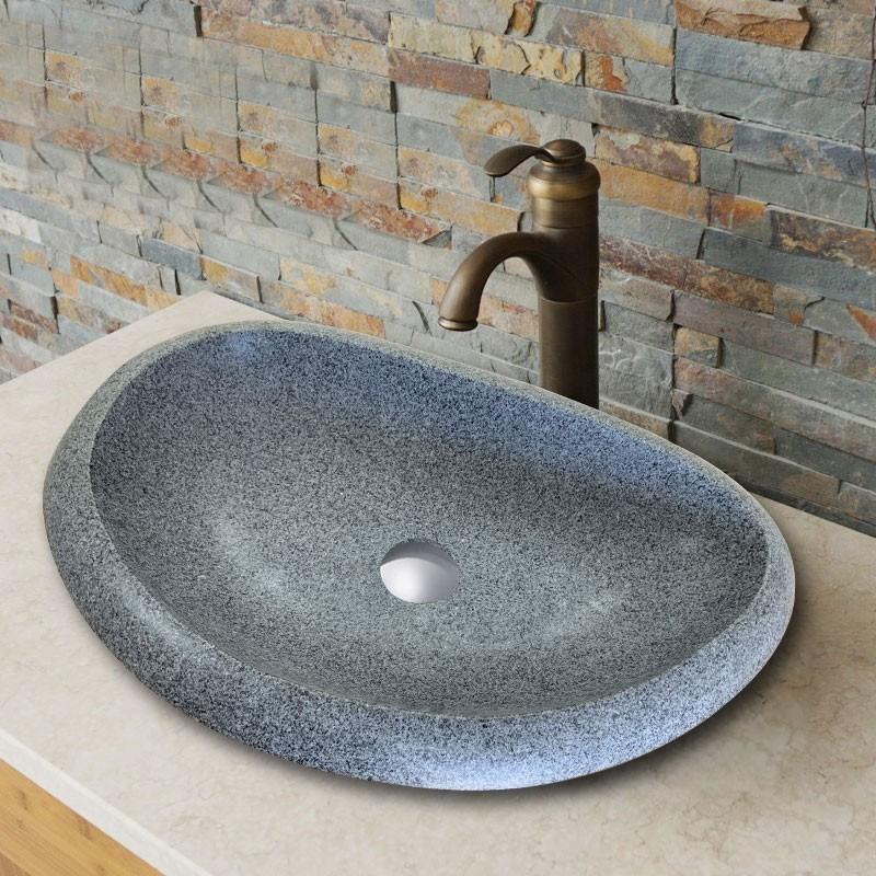 Lavabo Gris en Granite de Dessus du Comptoir (CL-S008)