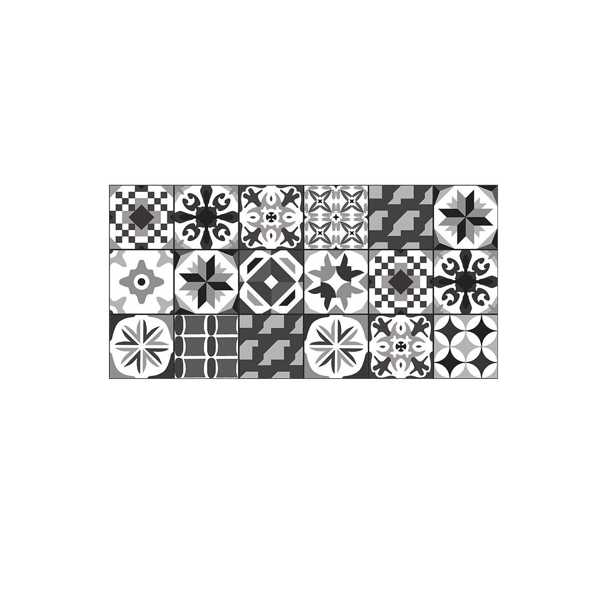 DECORAPORT NSM Panneau Mural, Casablanca Noir, 4'' x6'' (NCC-01) (Échantillon)