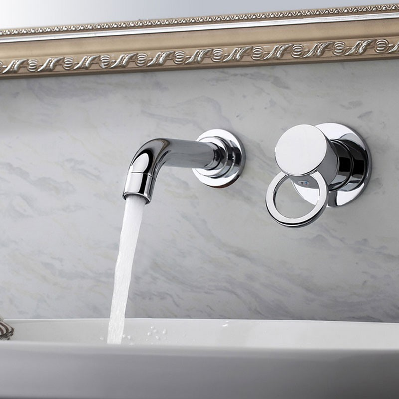Robinet de Lavabo&Vasque - Double Trou Simple Levier - Laiton Fini Chrome (8860)
