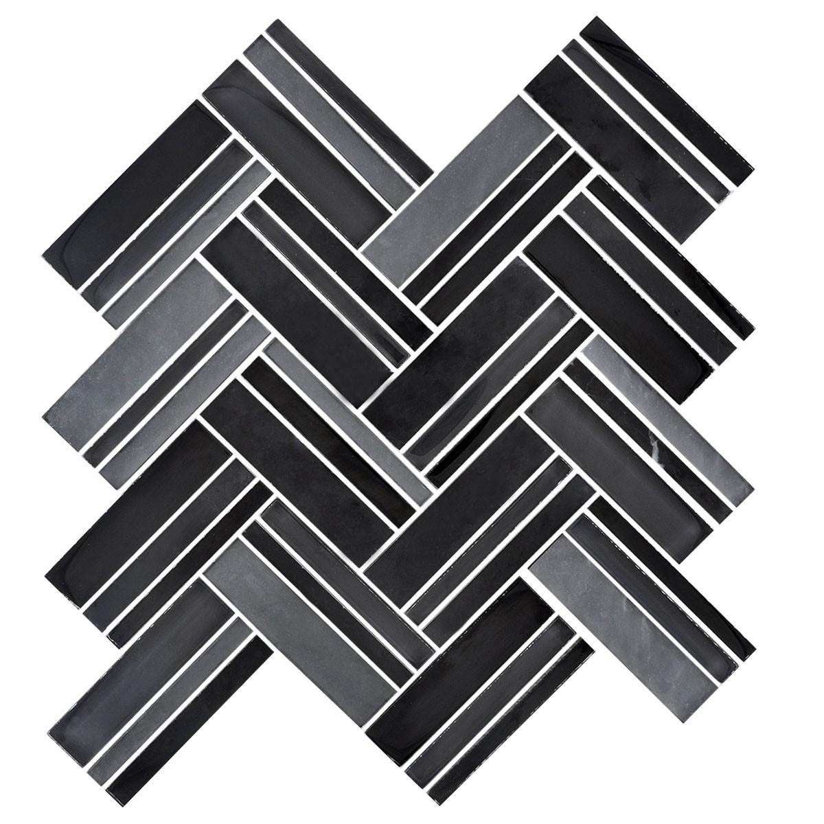 12 4 po x 13 8 po carreau mosa que de bande en m lange de. Black Bedroom Furniture Sets. Home Design Ideas
