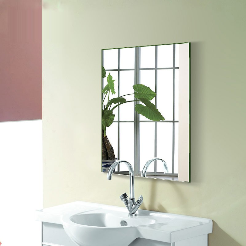 24 x 32 po miroir argent sans cadre de salle de bain for Miroir sans cadre
