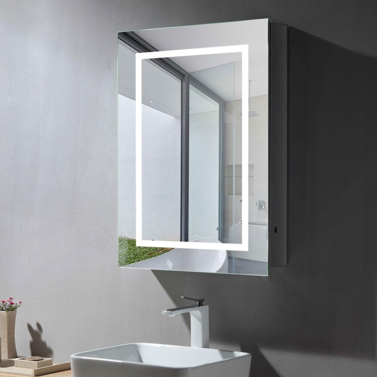24 x 32 Po Armoire-Miroir LED avec Capteur Infrarouge (DK-NS169)