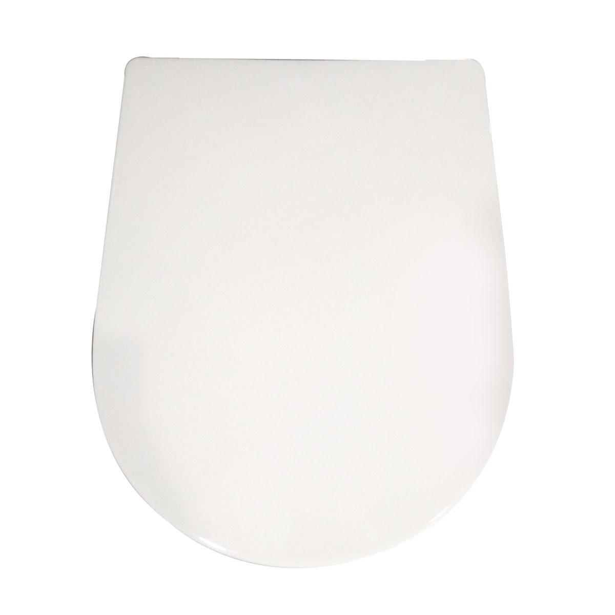 Siège de Toilette Blanc à Fermeture Douce avec Couvercle en PP (DK-CL-010)