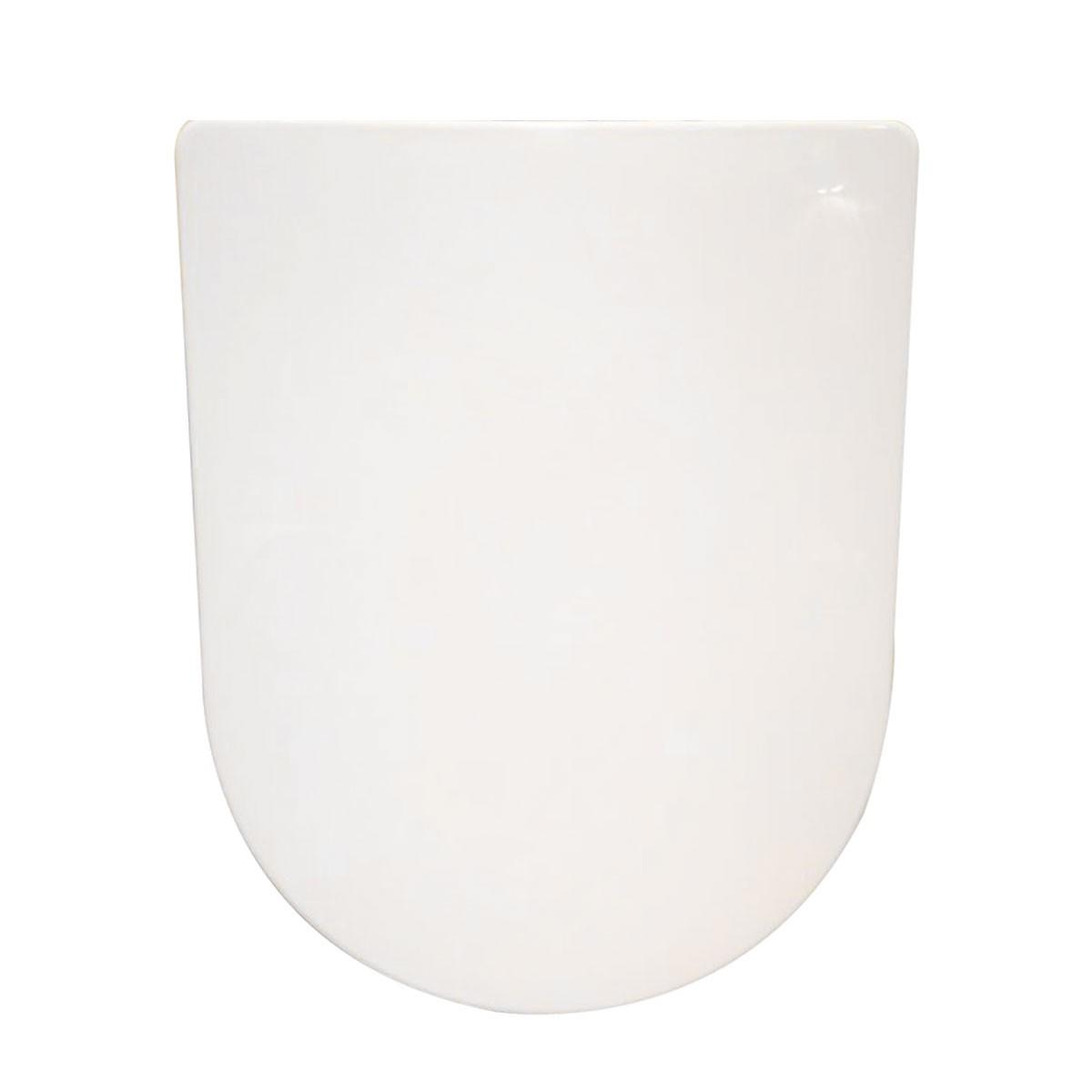 Siège de Toilette Blanc à Fermeture Douce avec Couvercle en PP (DK-CL-020)