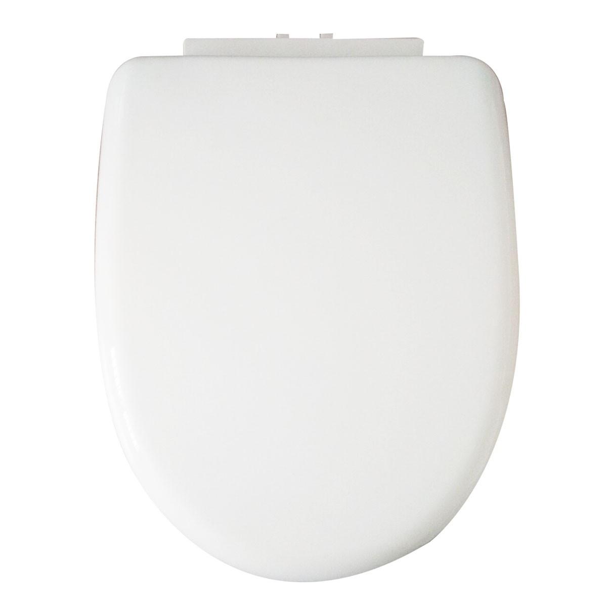 Siège de Toilette Blanc à Fermeture Douce avec Couvercle en PP (DK-CL-021)